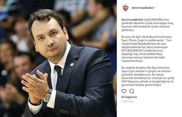 Ergin Ataman'ın önerisine Özhan Çıvgın'dan destek