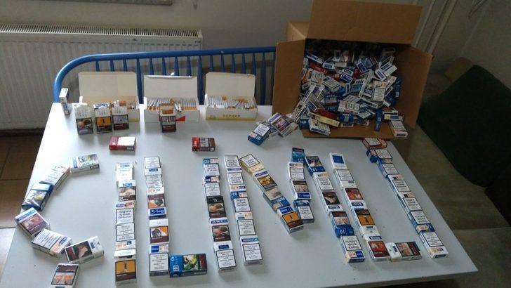 Polisten sarma sigara operasyonu