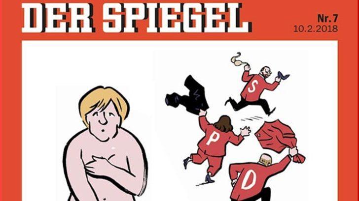 Almanya'yı karıştıran 'Angela Merkel' karikatürü!