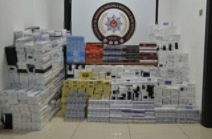 TIR dorsesinde gümrük kaçağı 16 bin 90 paket sigara ele geçirildi