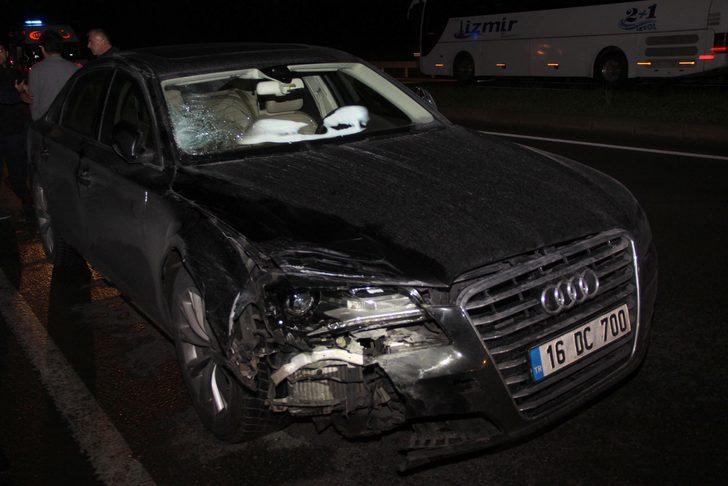 Otomobilin çarptığı motosikletin sürücüsü öldü, arkadaşı yaralandı