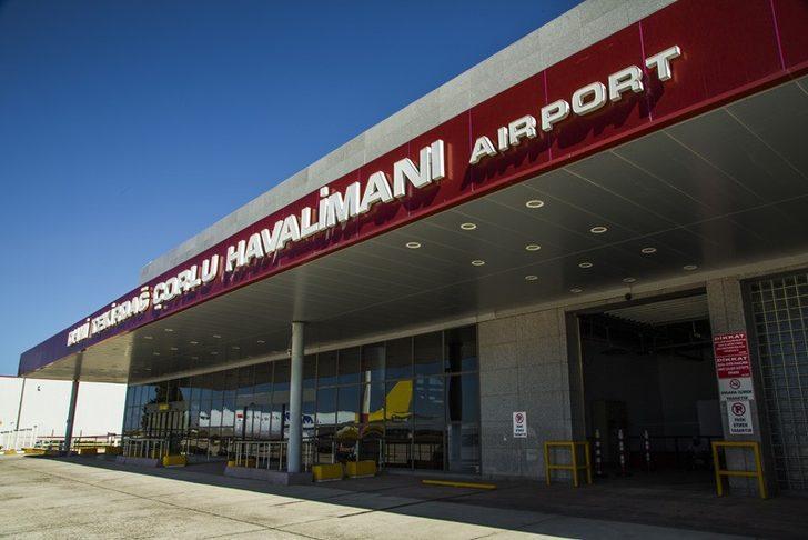 Çorlu Havaalanında bir ayda 9 bin 205 yolcuya hizmet verildi