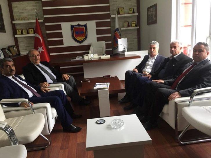 Başkan Kutlu Şoförler Odası Başkanı Ahmet Taş ile bir araya geldi