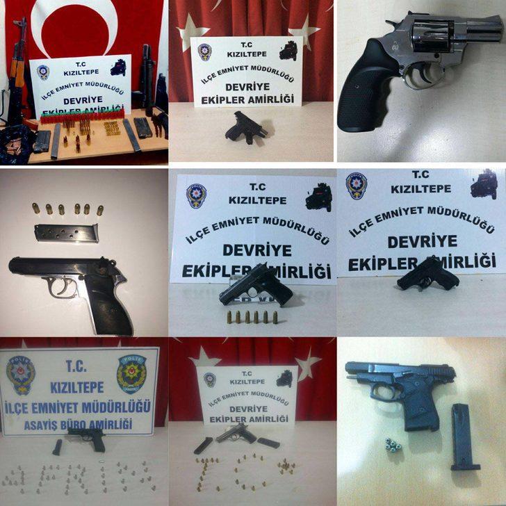 Kızıltepe'de ABD ve İtalyan menşeli tabancalar ele geçirildi