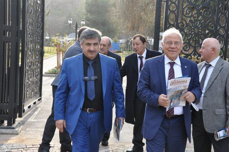 Türkiye Madeni Eşya Sanatkarları Federasyonu heyetinin Tarih Şeridi ziyareti