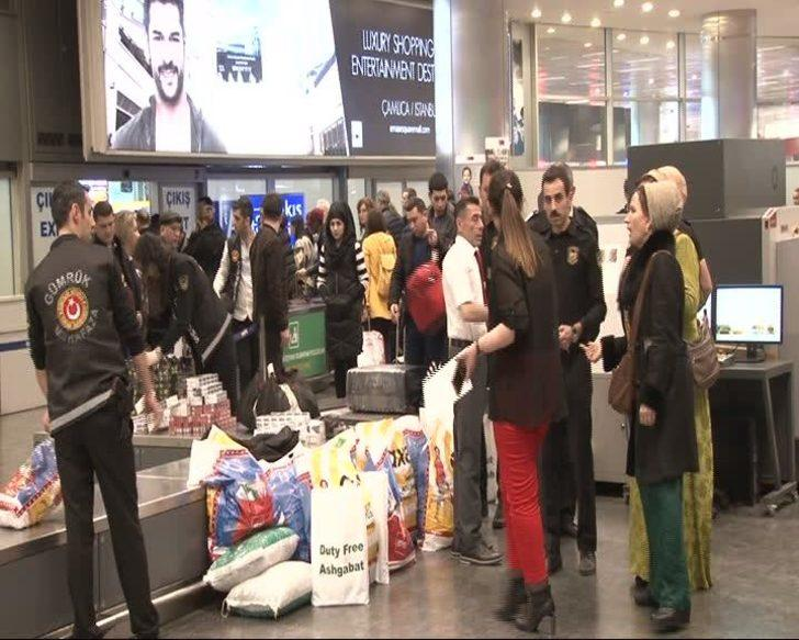 Atatürk Havalimanı'nda kaçak kürk operasyonu