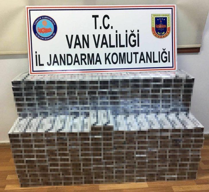 Van'da 7 bin 400 paket kaçak sigara ele geçirildi