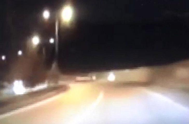 4 kişinin yaralandığı kaza, araç kamerasında