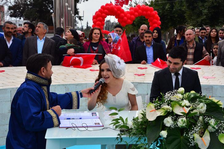 14 Şubat'ta 14 çift mutluluğa 'evet' dedi