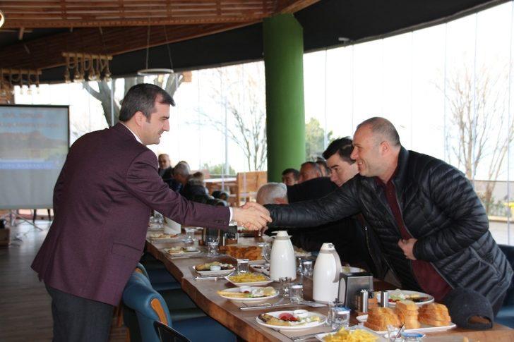 Başkan Yemenici, kooperatif ve oda başkanlarına hizmetleri anlattı