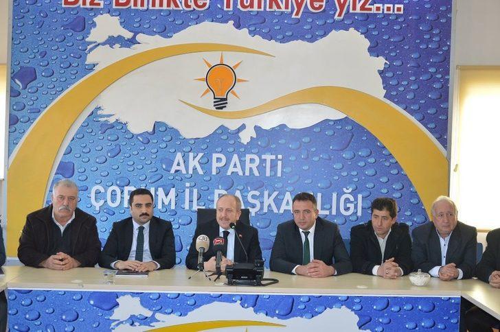 AK Parti Çorum İl başkanı Mehmet Karadağ;