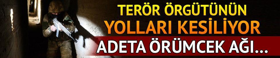Terör örgütü PYD'nin lojistik yolları kesiliyor