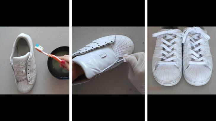Beyaz spor ayakkabı nasıl temizlenir?