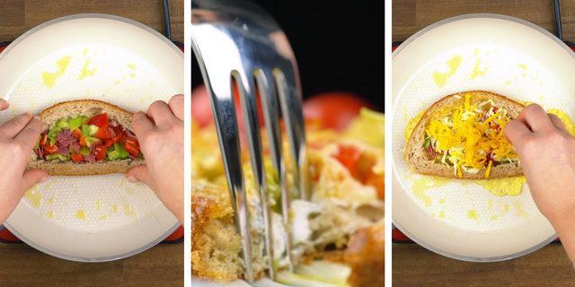 Var mı daha güzeli: Omlet sandviç tarifi