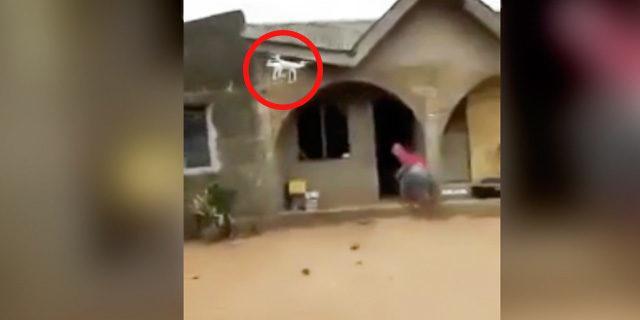 İlk defa drone gören kadın