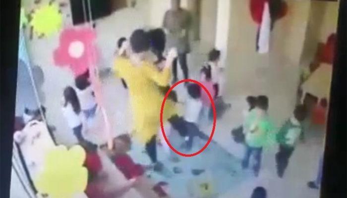 Öğretmen göbek atarken öğrencileri dövdü