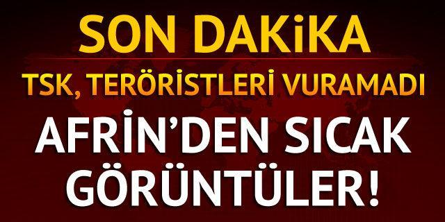 TSK, sivil varken teröristleri vurmadı
