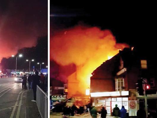 Son dakika! İngiltere'de bir binada patlama