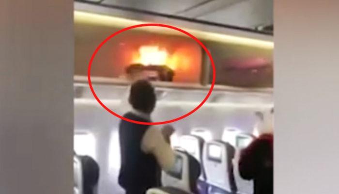 Uçakta korku dolu anlar!