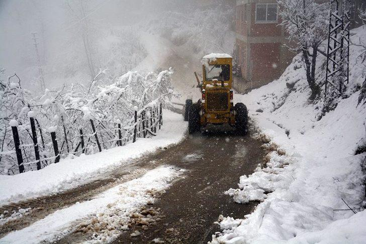 Ordu'da 2 ilçede okullara kar tatili