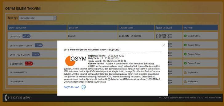 AİS'te YKS başvuru ekranı açıldı! İşte YKS başvuru kılavuzu ve rehberi