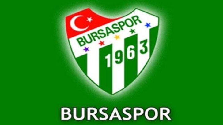 Bursaspor'a son dakika şoku!