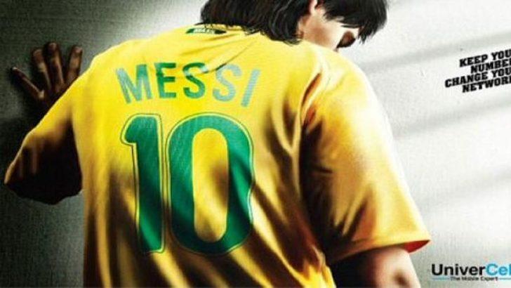Messi'ye Brezilya forması giydirdiler!