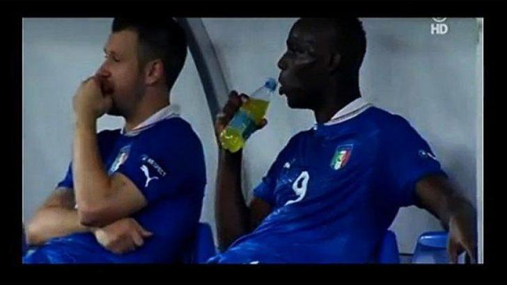Balotelli içeceği beğenmedi..! (Video)