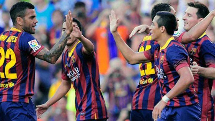 Barcelona gol oldu yağdı!