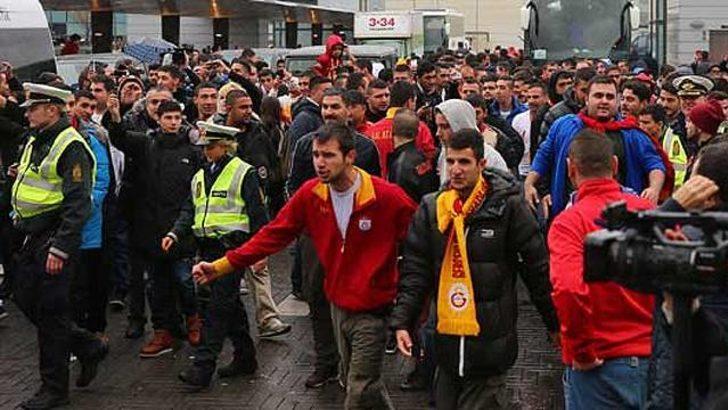 Kopenhag polisinden Galatasaray taraftarına jest!