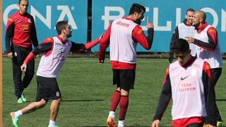 Galatasaray antrenmanında kavga!
