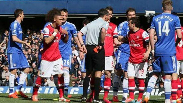 Chelsea-Arsenal maçında skandal!