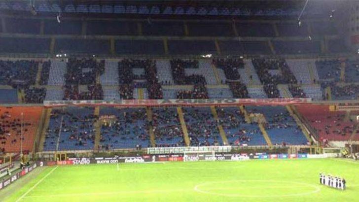 Milan taraftarından görülmemiş protesto