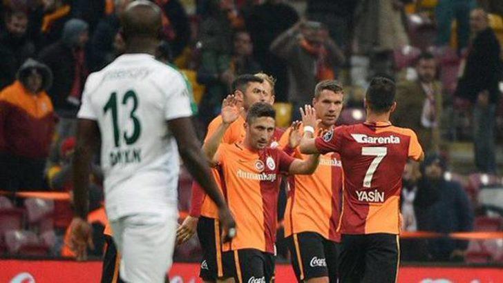 Galatasaray Bursaspor engelini 3-0 ile geçti