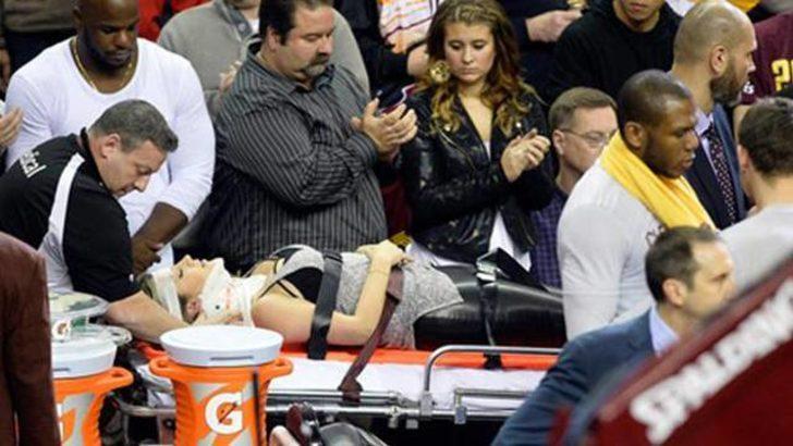 Lebron James seyirciyi hastanelik etti