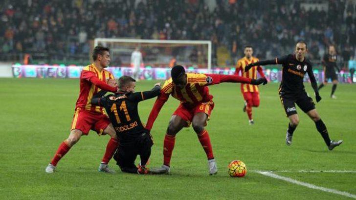 Galatasaray, Kayserispor engelini aşamadı