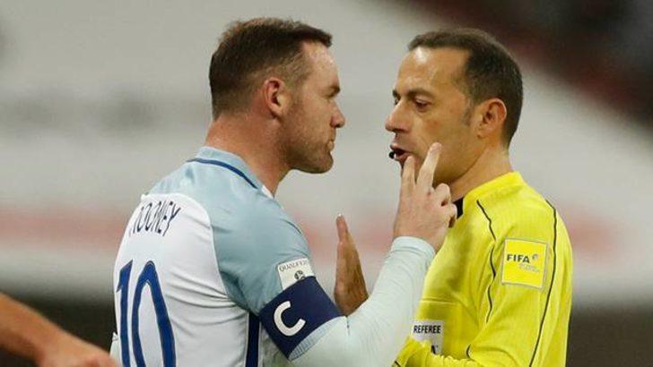 Cüneyt Çakır'ın kararları Rooney'i çıldırttı