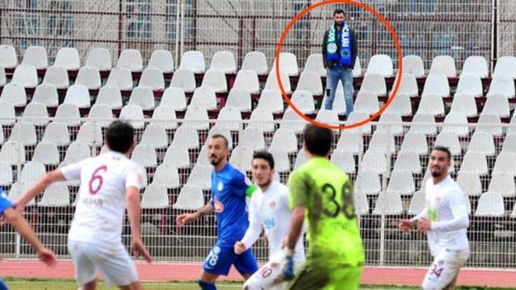 Süper Lig ekibinin taraftarı tribünde tek başına!