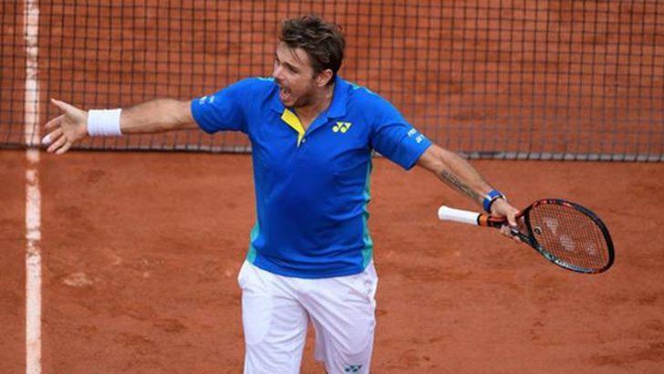 Roland Garros'ta ilk finalist Wawrinka oldu