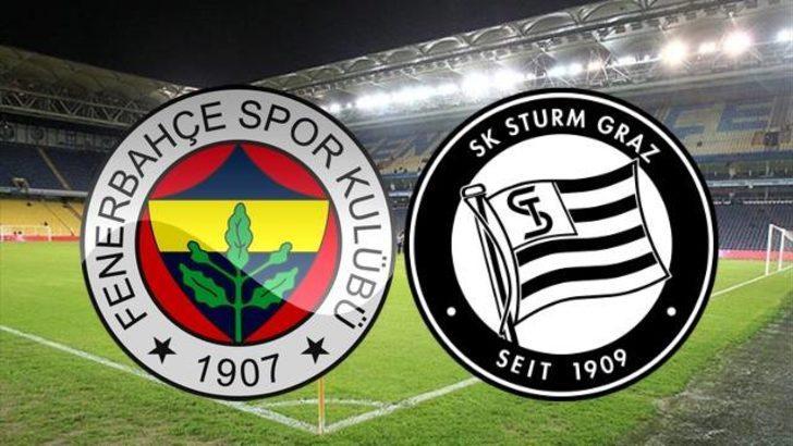 Fenerbahçe Sturm Graz maçı ne zaman, saat kaçta? Fenerbahçe - Sturm Graz maçı hangi kanalda?