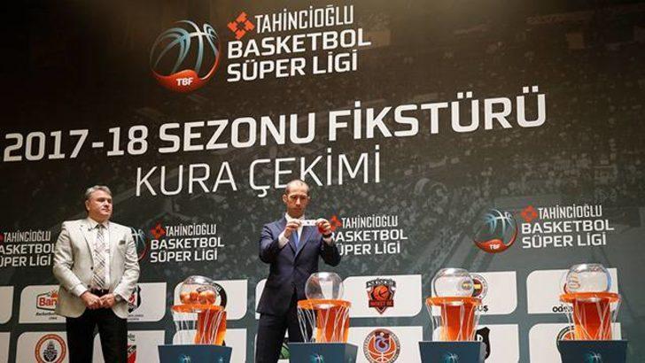 Tahincioğlu Basketbol Süper Ligi'nde yeni sezon fikstürü çekildi