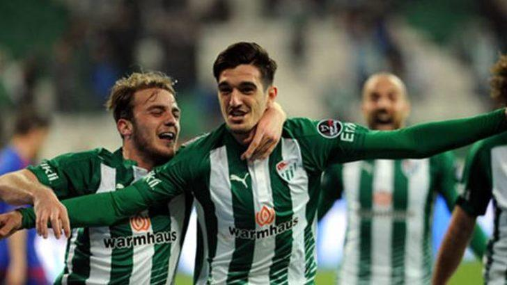 Bursaspor galibiyet için sahada