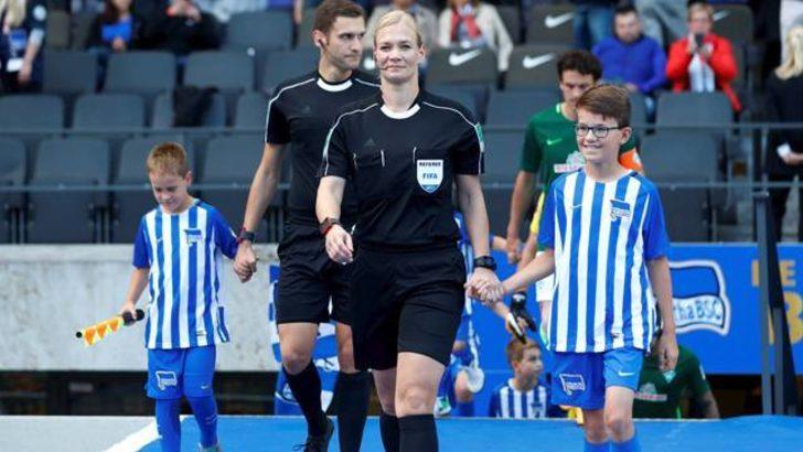 Bundesliga tarihinde bir ilk! Kadın hakem Bibiana Steinhaus sahada