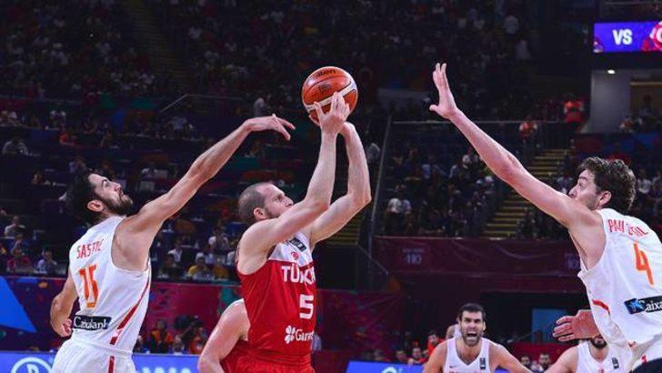 Avrupa Basketbol Şampiyonası'na erken veda! Türkiye 56-73 İspanya
