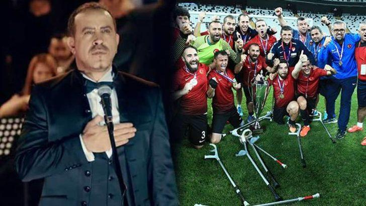 Haluk Levent Ampute Milli Takımı oyuncularının çocuklarına burs verecek