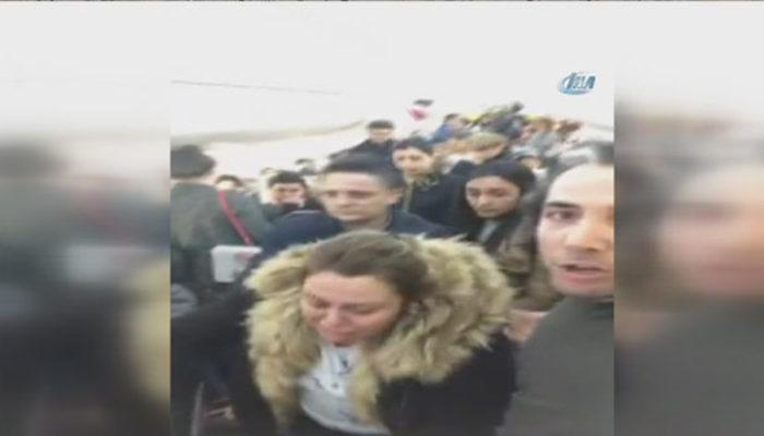 İstanbul uçağında büyük panik! Korku dolu anları canlı yayınladılar