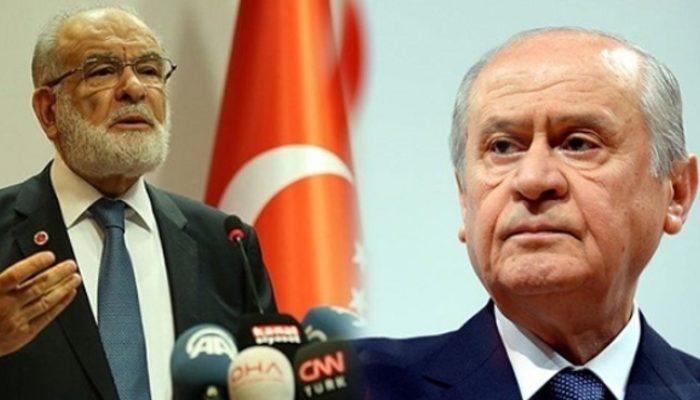 Saadet Partisi'ne MHP'den 'ittifak' vetosu!
