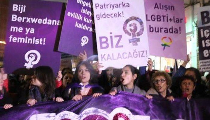8 Mart Dünya Kadınlar Günü'nde kadınlardan büyük yürüyüş!