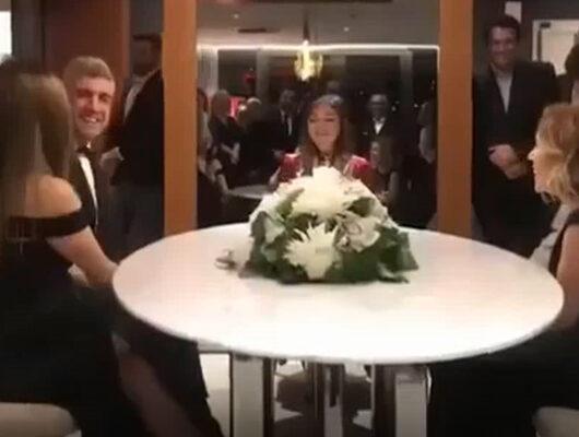 Özcan Deniz ve Feyza Aktan'ın nikah töreninden ilk görüntü
