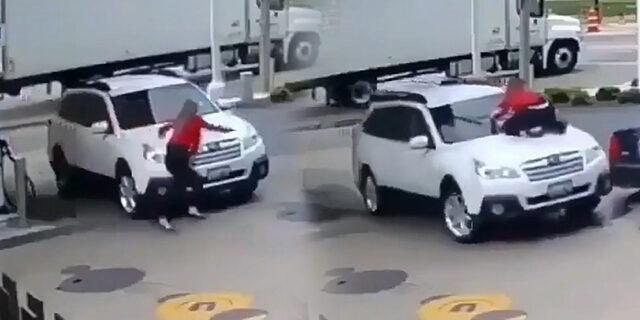 Amerikalı kadın arabasını hırsızlara yar etmedi